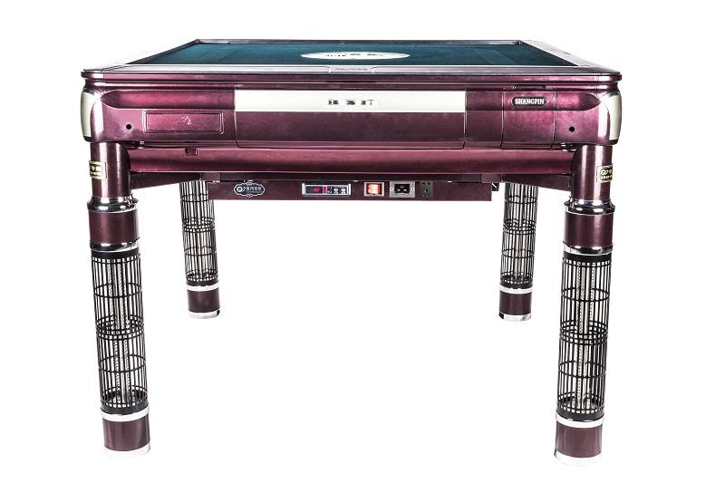 餐桌式取暖麻将机深珠红