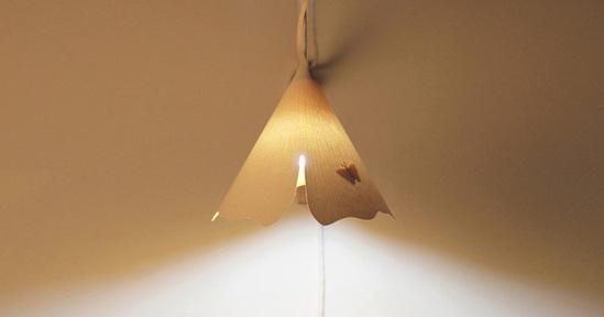 灯具照明效果-让树叶照亮你的家