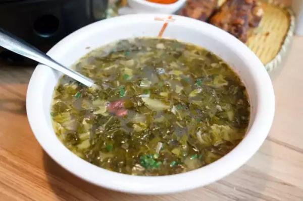 酸菜豆米汤